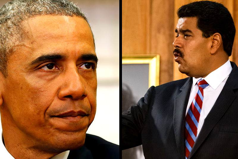 Nicolas-Maduro-Vs-Barack-Obama