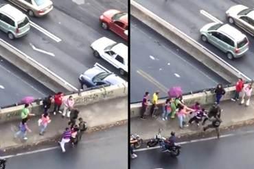 ¿GLORIOSA GUARDIA NACIONAL? Así es como la GNB golpeó a manifestantes en Santa Fe #19A