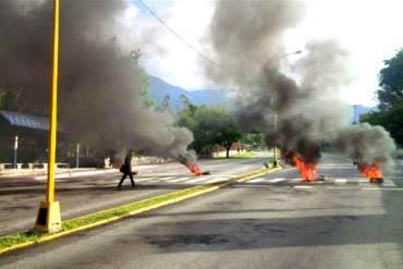 ¡SE PRENDE LA CALLE! Estudiantes protestan en Mérida por asesinato de Conan Quintana (+Fotos)