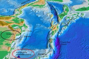 ¡URGENTE! Advierten de posible tsunami en Mar Caribe por erupción submarina en próximas 24h