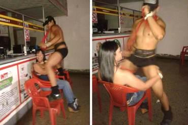 ¡EL DERRAPE SOCIALISTA! Sede del INTT en Aragua fue utilizada para alocada fiesta con striper