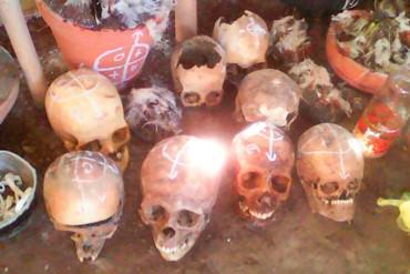 ¡REALMENTE DANTESCO! Al menos 17 cráneos humanos fueron hallados en vivienda de Guatire