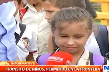"""En Video: Niña venezolana falta a clases en Colombia """"por temor a que no la dejen regresar"""""""