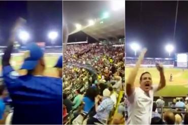 ¡Y VA A CAER…! Los cantos contra el gobierno que se escucharon en el juego de béisbol (+Video)