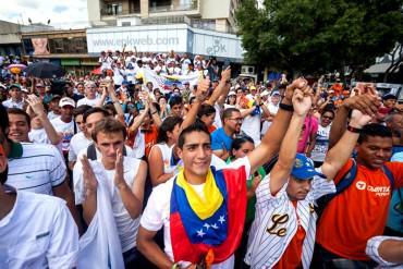 ¡SIN MIEDO! Masiva concentración opositora en Caracas a 4 días del asesinato de Luis Manuel Díaz