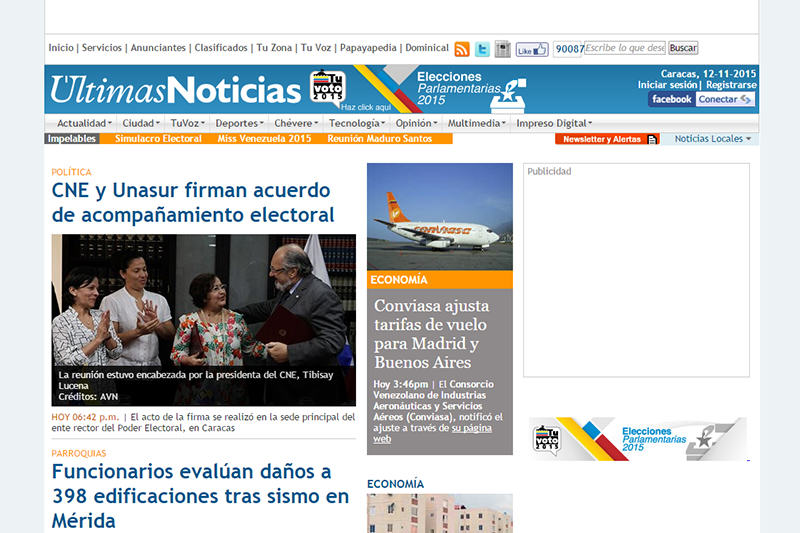 Captura Últimas Noticias