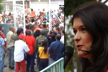 ¡TAMPOCO LA PERDONARON! Abuchean a Maripili Hernández al llegar a votar en Anzoátegui