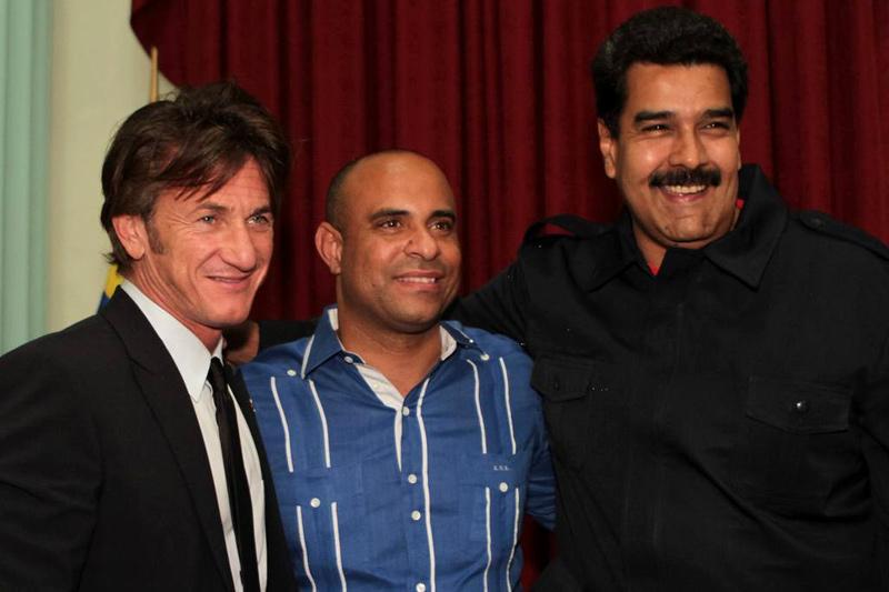 Sean Penn con Nicolás Maduro / Foto: ABC/Reuters