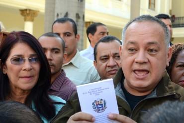 """Cabello: """"No estamos obligados a cumplir lo que diga la AN, el decreto lo aprobará el pueblo"""""""
