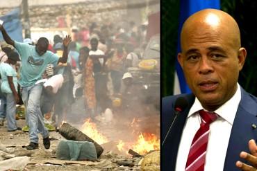 ¡CUANDO VEAS LAS BARBAS DE TU VECINO ARDER! Michel Martelly deja la Presidencia de Haití