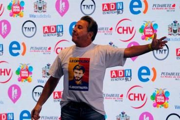 ¡CLAMOR POPULAR! Ricardo Montaner pidió en Viña del Mar la libertad para Leopoldo López