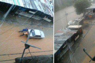 ¡A TOMAR PRECAUCIONES! El Guaire se desbordó a la altura de El Llanito por fuertes lluvias (+Fotos)