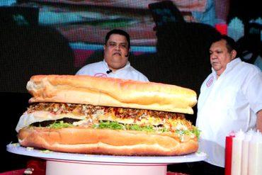 ¡AQUÍ LA TIENES! Elaboran en Maracaibo la hamburguesa más grande de Latinoamérica