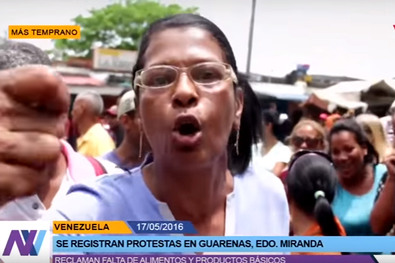 Venezolanos hartos de pasar hambre