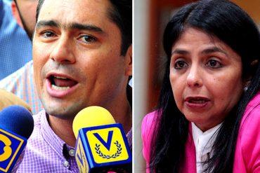 """¡LA PARÓ EN SECO! Vecchio le responde a la """"niña malcriada"""" Delcy por amenaza de retirarse de la OEA"""