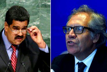 """¡FUERTE! El explosivo mensaje de Luis Almagro:  """"No reconocemos al dictador Maduro como presidente"""" (VIDEO)"""