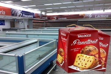 ¡INCREÍBLE! El gobierno llena los anaqueles vacíos con…¡PANETTONE! (porque comida no hay)