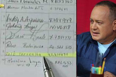 """¡NUEVA NOVELA! Diosdado Cabello denuncia que """"El Picure"""" firmó para activar el revocatorio"""