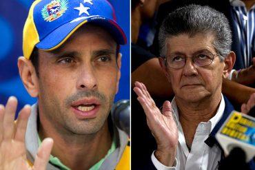 ¡EL ÚLTIMO SHOW! Denuncian  a Capriles y Ramos Allup por supuestos ultrajes contra Tibisay