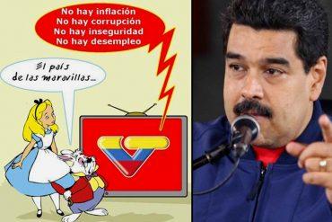 ¡DESCARADO! Maduro: «Antes los medios de comunicación tapaban los problemas del pueblo»