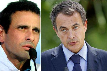 ¡VAYA, VAYA! Capriles: Rodríguez Zapatero viene al país en secreto en aviones de Pdvsa