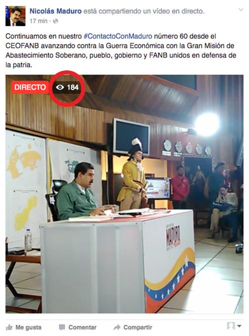 Facebook Nicolás Maduro.