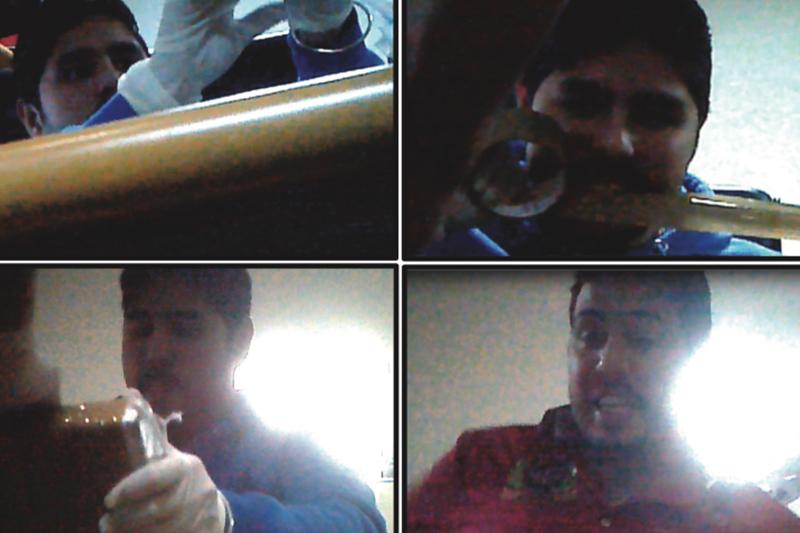 Narcosobrinos manipulando la cocaína / Foto: JESSICA CARRILLO