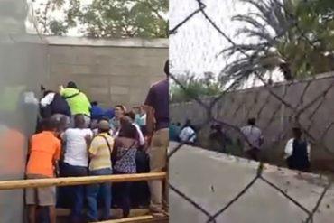 ¡VER PARA CREER! Un grupo de personas entró a trancazos en el Makro de Puerto Ordaz (+Video)