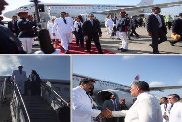 ¡TODO DE BLANCO! Maduro llegó a República Dominicana como si fuera a hacer la primera comunión