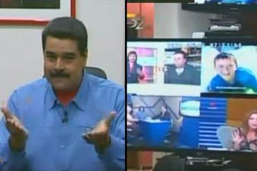 ¡UNA BURLA AL PAÍS! Maduro presume de su MEGA televisor que muestra 4 canales a la vez