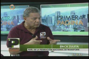 ¡MAMADERA DE GALLO! Erick Zuleta rechaza silencio del ministro Molina: Transportistas se sienten burlados