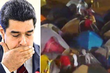 ¡DOSIS DE PATRIA! Brutal aguacero cayó sobre carpas donde Maduro instaló a chavistas en Margarita (+Video)
