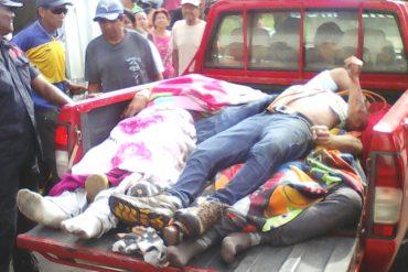 ¡HUMILLANTE! Así trasladaron a las víctimas del accidente de Expresos Los Llanos (+Foto)