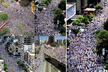 ¡GENTE, GENTE Y MÁS GENTE! Así se llena una marcha, Nicolás: Te lo mostramos con drones (+Videos)