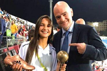 ¡CAMPEONA! Deyna Castellanos se llevó el Balón y Bota de Bronce del mundial femenino Sub-17
