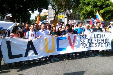 ¡CON ÁNIMO! Movimiento estudiantil se une a la Toma de Caracas: Llegan los estudiantes