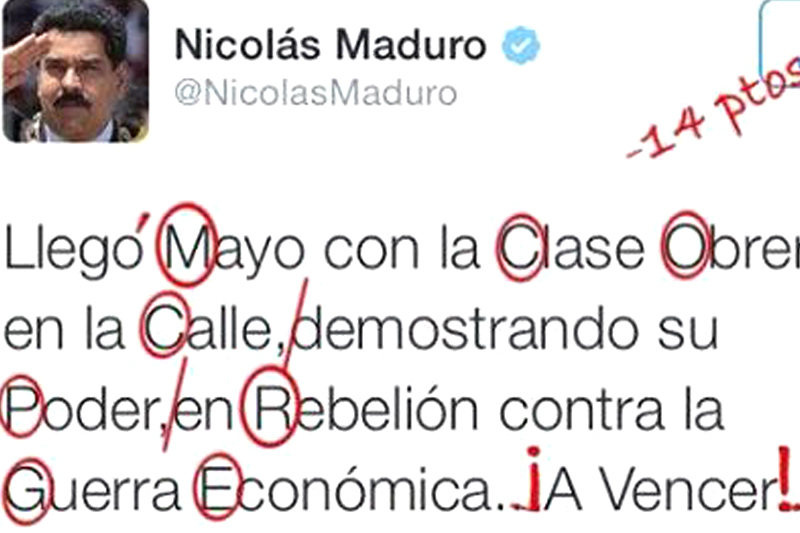 Error Maduro