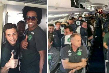 ¡AQUÍ ESTÁN! Las fotos y videos que tomó el equipo del Chapecoense antes de despegar el avión