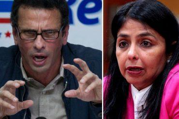 ¡BUENA PREGUNTA! Capriles le responde a Delcy: ¿El problema son los pasaportes y no la droga? (+Video)
