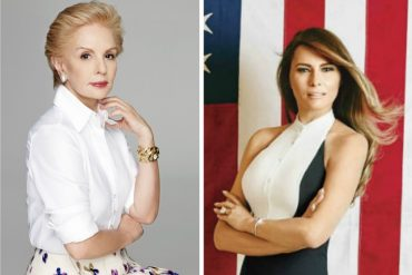 ¡LA ELEGANCIA POR DELANTE! Carolina Herrera: Sería un honor vestir a Melania Trump