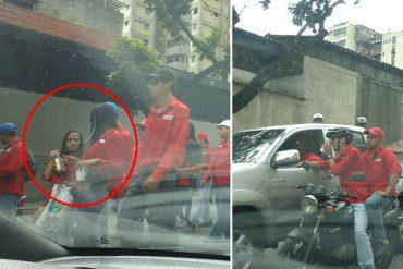 ¡PÍLLALO! Esto es lo que fueron a hacer los chavistas en la marcha roja rojita convocada por Maduro