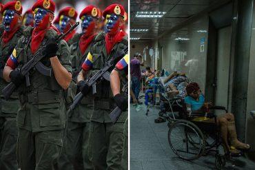 ¡ZAMURO CUIDANDO CARNE! Guardias nacionales y milicia fiscalizan farmacias en hospitales del país