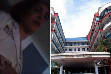 ¡CÁMARA OCULTA! Trabajadora del Hospital Clínico Universitario encara a la directora (+Papeleras +Gusanos)