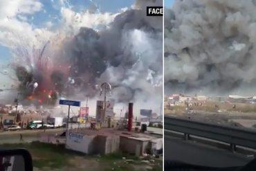 ¡TRAGEDIA! Al menos 29 muertos por explosión de mercado de fuegos artificiales en México (+Video)