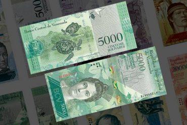 ¡TE LOS MOSTRAMOS! Los supuestos billetes falsos de 5.000 bolívares (míralos bien)
