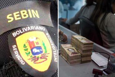 ¡PERSEGUIDORES Y CUSTODIOS! Sebin supervisará canje de billetes en el Banco Central de Venezuela
