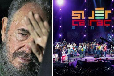 """¡INSÓLITO! Reprograman el Suena Caracas, pero piden llevar una flor para """"homenajear"""" a Fidel"""