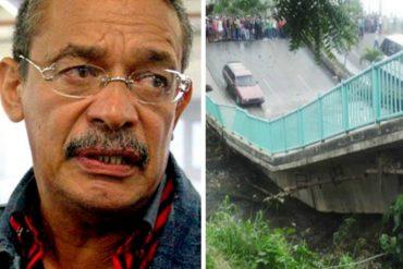 ¡RECULÓ! García Carneiro sobre caída del puente de Guanape: No fue sabotaje, falló una viga (+Video)