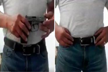 ¿A LA DELANTERA? El nuevo modus operandi que usan los malandros para esconder sus pistolas ante requisas