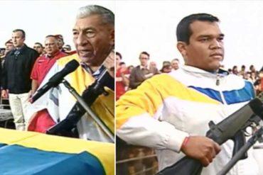 """¡MÁS ARMAS! En cadena de radio y televisión hicieron entrega de fusil a joven venezolano para """"seguir la lucha"""""""